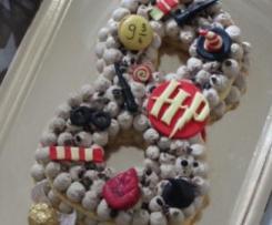 Number cake tiramisu (biscuit cuillère, crème mascarpone/café et chocolat)  - Sweet table anniversaire Harry Potter
