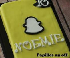 Gâteau Snapchat en pâte à sucre