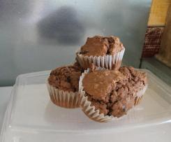 muffins pépites de chocolat et flocons d'avoine
