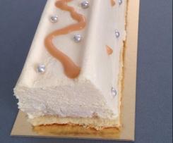 Bûche vanille / caramel au beurre salé