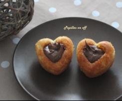 Moelleux vanille coeur nutella