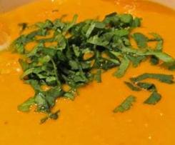 soupe express au lait de coco