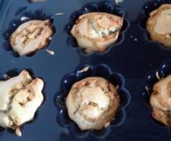 Muffins au caramel beurre sale et noix