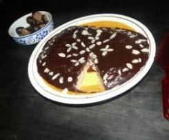gâteau à la chataigne nappé de chocolat