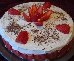 Fraisier - Mousseline Vanille - Génoise Chocolat