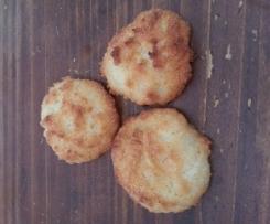 Rochers coco et coeur de chocolat blanc (utilisation des blancs d'oeufs)