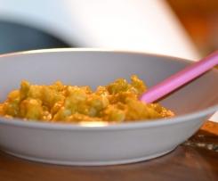 Purée bébé patate douce, haricot vert et pâte