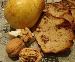 Cake au fromage de brebis, poires et aux noix