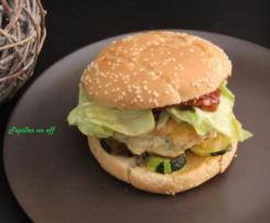 Burger au poulet et légumes