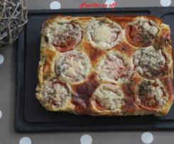 Clafoutis tomate, miel et moutarde