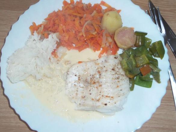 Filet de julienne au beurre blanc et petit l gumes by - Cuisiner filet de julienne ...