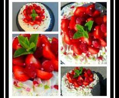 Angel cake aux fraises et framboises