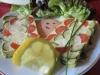 Terrine aux coeurs de palmier (ou asperges), courgettes, carottes et sa sauce légère