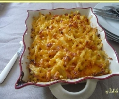 Gratins de macaronis au cheddar