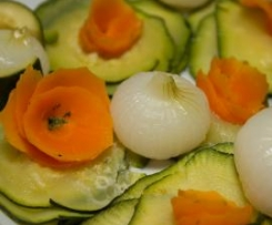 Fleurs de carottes et courgettes