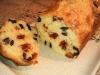 Cake aux olives, Tomates et oignons