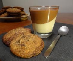 Crème aux deux saveurs sans lactose