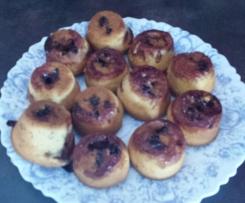 Muffins confiture de mûre maison et chocolat blanc (saveur d'enfance)