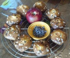 Muffins pommes-pépites de chocolat