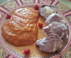 Filet mignon et sa purée de patates douces