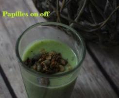 Soupe courgette ricotta et son granola salé – IG bas