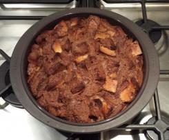 Gâteau de pain perdu au chocolat