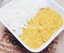 Dhal de patate douce et de lentilles corail