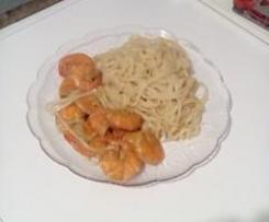 Nouilles chinoises façon thaï aux crevettes