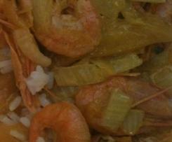 Curry de crevettes et mangues