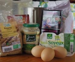 gateau moelleux choco- tofu-sésame