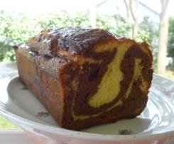CAKE MARBRE MOELLEUX AU CHOCOLAT