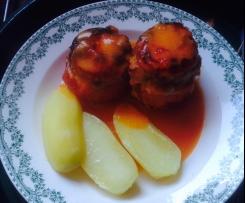 Tomates farcies et leur délicieuse sauce