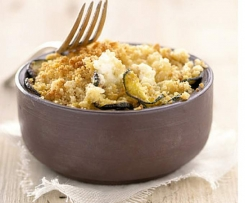 Crumble courgettes au fromage ail et fines herbes