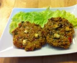 Cookies de légumes aux épices, céréales et à la féta