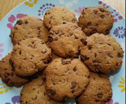 Cookies aux pépites de chocolat noir (sans gluten, sans lait, sans blanc d'oeuf)