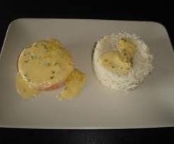 Saumon au riz sauce blanche au citron