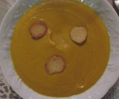 Velouté de carottes, patate douce et châtaignes