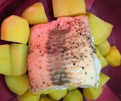 Saumon et pommes de terre vapeur