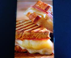 croque monsieur chorizo ; mozza
