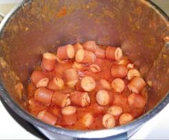 Saucisses de strasbourg à la tomates