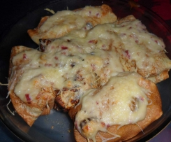 Crêpe lardons, champignons, fromage
