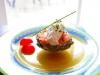 Artichaud au saumon et sa crème au chèvre
