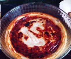 Cheese cake aux poires caramélisées
