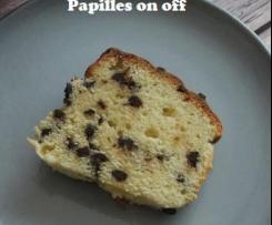 Cake vanille, ricotta et pépites de chocolat noir - IG bas