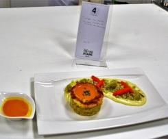 Timbales de Sandre au coeur crémeux de crevettes au Champagne - Thermostars saison 2