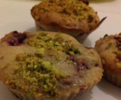 Muffins pistache framboise