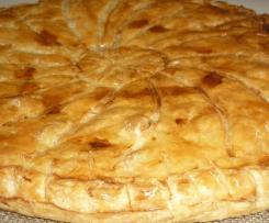 Galette des rois frangipane amande-noisette et pommes