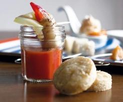Gaspacho à la tomate et son cannelloni de légumes