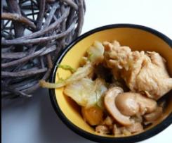 Poulet au chou chinois et champignons