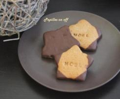 biscuits sablés pain d'épices au chocolat et orange